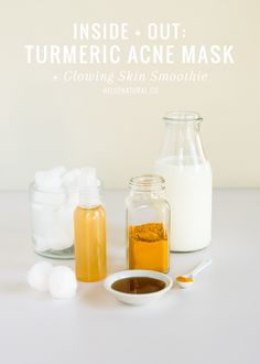 Turmeric Acne Mask + Turmeric-Ginger Smoothie | HelloNatural.co