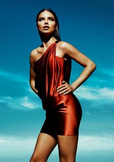 Adriana Lima cute red dress http://www.luvtolook.net/2013/05/adriana-lima-cute-red-dress.html