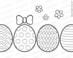 Easter Eggs Spring Flowers Bowtie Doodle Digital Stamp Clip Art by Inkee Doodles, $5.00, part of 21 piece collection, #Easter #Eggs #Spring #Flowers #Bowtie #Doodle #Digital #Stamp #Clip #Art #etsy