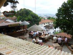 Santa Teresa Cafe. A trip to South America in search of design inspiration: http://blazingblog.tumblr.com/ #lasiguanas #design #restaurants #SouthAmerica #exterior #cafe #SantaTeresa
