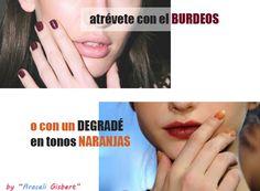 El color Burdeos para tus uñas siempre es un acierto y el ¿naranja?. Tendencia (pero que te combine)