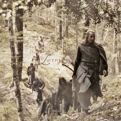 Lothlórien. Pinning mostly because I've never seen this picture before - it must be a deleted bit that was filmed but never even made it into the extended versions.