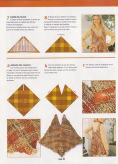 Comparto Revista con las instrucciones paso a paso para hacer Chaleco con telar triangular, ojala les sirva para que hagan un modelo origin...
