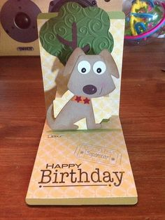 Cute use of sizzix puppy dog ears.