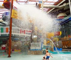 Get soaked by Kartrite's amazing tipping bucket in the Pocono Mountains! #CamelbackLodge