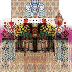 Jameel Prize by Razan Sabbagh, via Behance Mix Media, Islamic Patterns, Art Addiction, Arabic Art, Textile Prints, Textiles, Painting Inspiration, Design Inspiration, Graphic Design Art