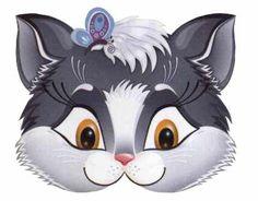 mask page 24 Animals Images, Cute Animals, Kitten Cartoon, Kitten Images, Printable Masks, Grey Kitten, Mask Template, Cat Mask, Kristen Bell