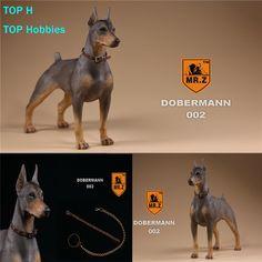 Dobermann 1//6 Scale Resin Model Doll Accessories Dog Statue MR.Z Display New