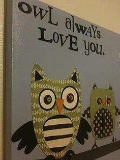 Owl Nursery Wall Art