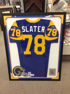 Jackie Slater Jersey framed!