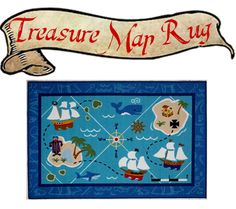 """Pirate Decor: Treasure Map Rug - """"A Pirate's Adventure"""" Coming This Summer to Disney World & Pirate Booty for Your Baby! 