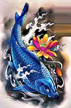 ... KOI on Pinterest | Koi fish tattoo Tattoo stencils and Tattoo flash