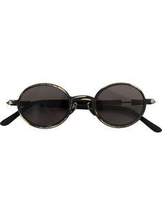 round frame sunglasses - Brown Kuboraum 09XQUpV5Py