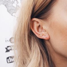 little dipper constellation earrings // via Kate the Great