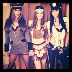 Pin for Later: Sexy and Scary Halloween Costume Inspiration From Your Favorite Victoria's Secret Angels And a Policewoman