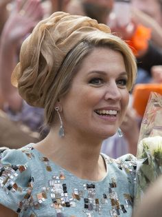 APRIL 26: Queen Maxima of The Netherlands (new hat) attends King's Day on April 26, 2014 in Amstelveen, Netherlands.