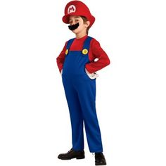 """Ah.... the perfect costume for book week... if only we could find a """"book"""" written about Mario... surely he is deserving!!  $34.99 at birthdayexpress.com"""