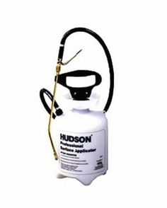 Hudson 90111 Surface Applicator Poly 1 Gallon Sprayer by Hudson. $34.77. Translucent tank with large funnel top. Best for spot spraying on carpets, floors and walls. Metal Roto-Valve control--rotates 360 degrees for ergonomic comfort. 42-inch Kem-Oil braided power sprayer-style hose--our most chemical resistant. Strong curved 12-inch brass spray wand. Brass Flat Fan nozzle. HPP High Performance Pump with glove-sized comfort grip handle. For home, lawn and garden rely on H...