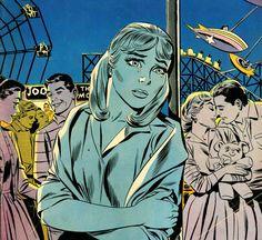"forgottencool: "" Girl's Love Stories "" Vintage Pop Art, Romance Comics, Comic Book Panels, Comic Drawing, Vintage Comics, Comic Covers, Art Pictures, New Art, Art Inspo"