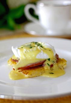 Gluten Free Eggs Benedict with Polenta Cakes....so happy to find this as eggs benedict are my very favorite breakfast!!!!