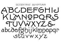 Eccentric Egyptian vintage font