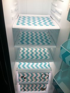 Fridge Makeover. DIY. Why have I never thought to do something like this? Obviously I would do a less girly version or my love might kill me. But still! I need to do this ASAP!