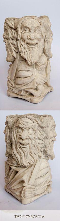 Figura słowiańska, ręcznie rzeźbiony Światowid