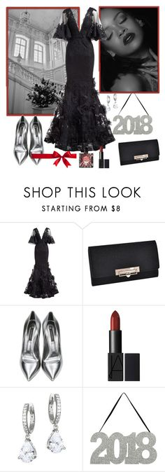 """""""Untitled #1585"""" by misaflowers ❤ liked on Polyvore featuring Marchesa, Casadei, Kate Spade and Yves Saint Laurent"""