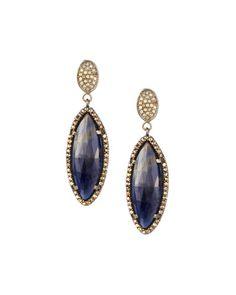 Bavna Diamond & Mixed Sapphire Drop Earrings jXKM1V9o