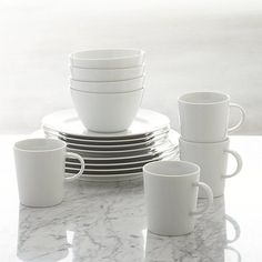 These are my dishes, if we decide we need another 4 places.  Maison 16-Piece Dinnerware Set | Crate and Barrel