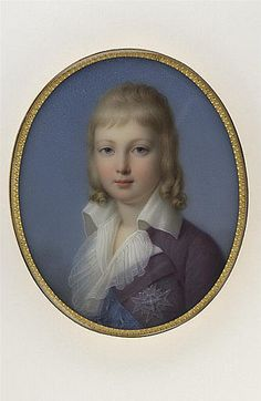 A portrait of Louis Charles by Marie Victoire Jaquotot.  Similar to another portrait of Louis Charles, which some believe to be Louis Joseph because of the darker and thinner hair. Louis Charles was said to have lighter and curlier hair.
