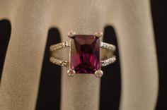 LG Sterling Silver Amethyst & Topaz Ring 8 by TwiceAsNice4u