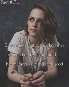 ~ I love how she's not trying to get away from the Twilight thing. {#twilightsaga#bellaswan#kristenstewart}