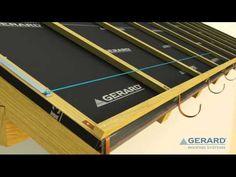 Montáž hydroizolace střechy a laťového roštu - YouTube
