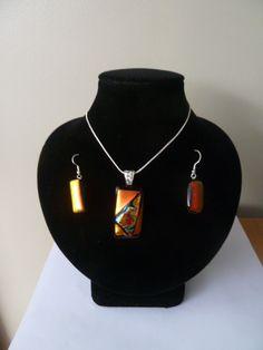 Gorgeous Dichroic Pendant and earring set. <3 at www.facebook.com/CreativeGlassNz Earring Set, Glass Art, Facebook, Diamond, Pendant, Creative, Artist, Jewelry, Fashion