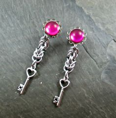 Hey, I found this really awesome Etsy listing at https://www.etsy.com/listing/214702093/dangle-plugs-8g-plugs-3mm-gauges-magenta