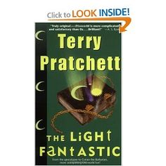 This and _The Colour of Magic_ sort of introduce Discworld (although you can start the series almost anywhere).
