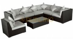 KJ 2005 - Outdoor Sectional, Sectional Sofa, Lounges, Outdoor Furniture, Outdoor Decor, Home Decor, Modular Couch, Decoration Home, Room Decor