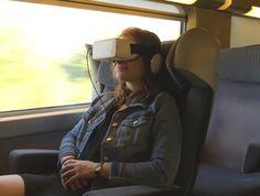 Sul treno TGV Italia-Francia si viaggia con il visore personale per film 2D e 3D