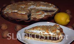 Citronový koláč s ořechy