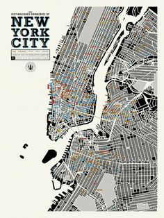 A Giant Map of Where to Drink in New York City | Mental Floss