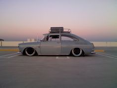 My first car was a VW Type 3 similar to this, but not lowered and with cool wheels
