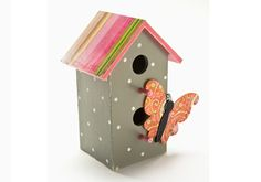 Butterfly Birdhouse #PlaidCrafts #crafts