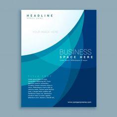 azul modelo profissional projeto do folheto negócio insecto Vetor grátis