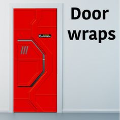 Change the look of your door by wrapping it with unique prints. Every order is custom size to fit the product that you are going to wrap Star Trek Birthday, Star Trek Party, Star Trek Theme, Basement Sports Bar, Refrigerator Wraps, False Wall, Spaceship Interior, Star Trek Enterprise, Star Trek Voyager