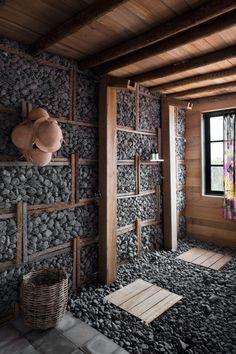 Home Building Design, Building A House, House Design, Hut House, Sauna Design, Outdoor Sauna, Mexican Home Decor, Bamboo House, Outdoor Bathrooms