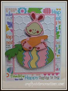 Cricut Easter cards http://craftysisterscreations.com