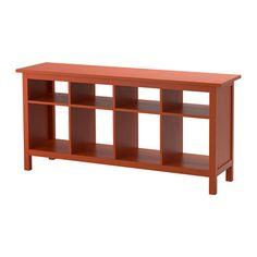 HEMNES Consola, marrón rojizo marrón rojizo 157x40 cm