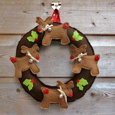 Reindeer Wreath £14.50