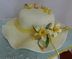 Pretty hat cake